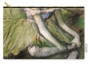 La Jupe Verte Carry-all Pouch by Edgar Degas