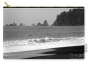 La Push Beach Black And White Carry-all Pouch