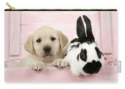 Lab Puppy And Bunny Carry-all Pouch