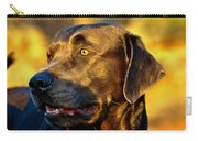 Lab Puppy At Sunset Carry-all Pouch
