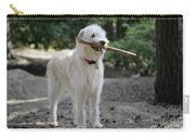Labradoodle Holding Stick Carry-all Pouch