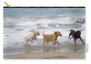 Labrador Dogs Running Carry-all Pouch
