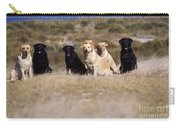Labrador Dogs Waiting For Orders Carry-all Pouch