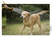 Labrador Playing In Water Carry-all Pouch