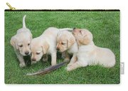 Labrador Retriever Puppies And Feather Carry-all Pouch