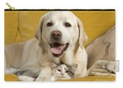 Labrador With Cat Carry-all Pouch