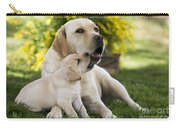 Labrador With Puppy Carry-all Pouch