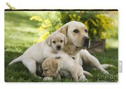 Labrador With Young Puppies Carry-all Pouch