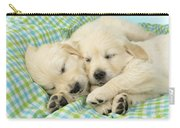 Labs Sleeping On A Blanket Carry-all Pouch by Greg Cuddiford