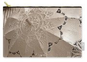 Lace Parasol In Sepia Carry-all Pouch
