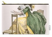 Ladies Elaborate Gown, Engraved Carry-all Pouch