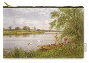 Ladies In A Punt Carry-all Pouch by Arthur Augustus II Glendening