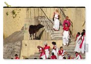 Women Ascetics -  Bramacharinis - On The Ashram Steps Rishikesh India Carry-all Pouch