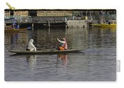 Ladies Plying A Small Boat In The Dal Lake In Srinagar - In Fron Carry-all Pouch