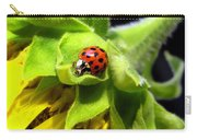 Ladybug And Sunflower Carry-all Pouch