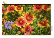Lady Bird And Her Flowers Carry-all Pouch