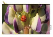 Lady Bug On Lupine Carry-all Pouch