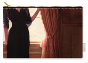 Lady In Black By Window Carry-all Pouch