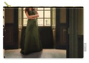 Lady In Green Gown By Window Carry-all Pouch by Jill Battaglia