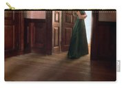 Lady In Green Gown In Doorway Carry-all Pouch by Jill Battaglia
