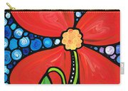 Lady In Red 2 - Buy Poppy Prints Online Carry-all Pouch by Sharon Cummings