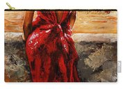 Lady In Red  34 -  I Love Budapest Carry-all Pouch by Emerico Imre Toth