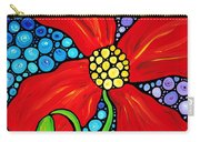 Lady In Red - Poppy Flower Art By Sharon Cummings Carry-all Pouch