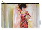 Lady In Red Carry-all Pouch