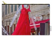 Lady In Red Watching Filming Of Today Show In Old Montreal-qc Carry-all Pouch