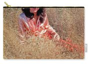 Lady In The Grass - Vert Carry-all Pouch