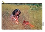 Lady In The Grass -horiz Carry-all Pouch