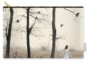Lady In White In Autumn Landscape Carry-all Pouch
