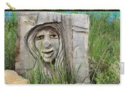Lady In Wood Carry-all Pouch