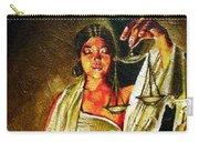 Lady Justice Sepia Carry-all Pouch