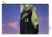 Lady Liberty Dressed Up For The Nba All Star Game Carry-all Pouch by Susan Candelario