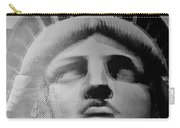 Lady Liberty In Black And White1 Carry-all Pouch