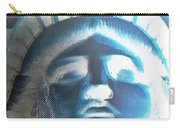 Lady Liberty In Negative Carry-all Pouch