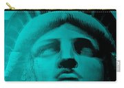 Lady Liberty In Turquoise Carry-all Pouch