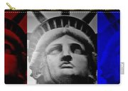 Lady Liberty Red White And Blue Carry-all Pouch