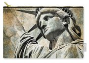 Lady Liberty Vintage Carry-all Pouch by Delphimages Photo Creations