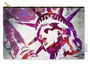Lady Liberty Watercolor Carry-all Pouch by Delphimages Photo Creations