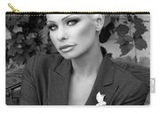 Lady Of Solitude Bw Palm Springs Carry-all Pouch by William Dey