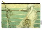Lady On The Deck Of A Ship  Carry-all Pouch
