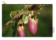 Lady Slipper Orchid Twins Carry-all Pouch
