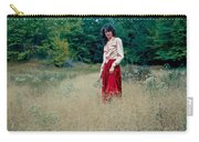 Lady Standing In Grass 2 Carry-all Pouch