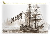 Lady Washington At Friendly Cove Sepia Carry-all Pouch by James Williamson