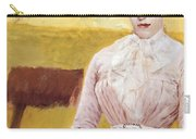 Lady With Black Kitten Carry-all Pouch by Giuseppe De Nittis