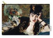 Lady With Fan Portrait Of Marie Anne De Callias Known As Nina De Callias Carry-all Pouch