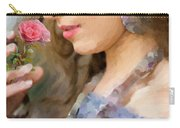 Lady With Pink Rose Carry-all Pouch