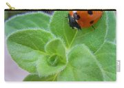Ladybug And Oregano Carry-all Pouch